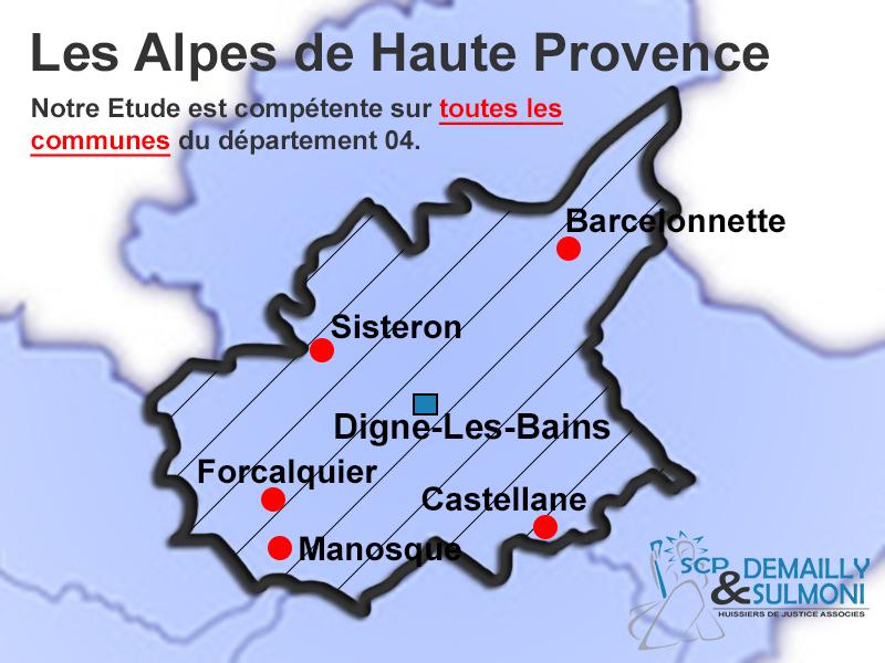 Huissier Alpes de Haute Provence